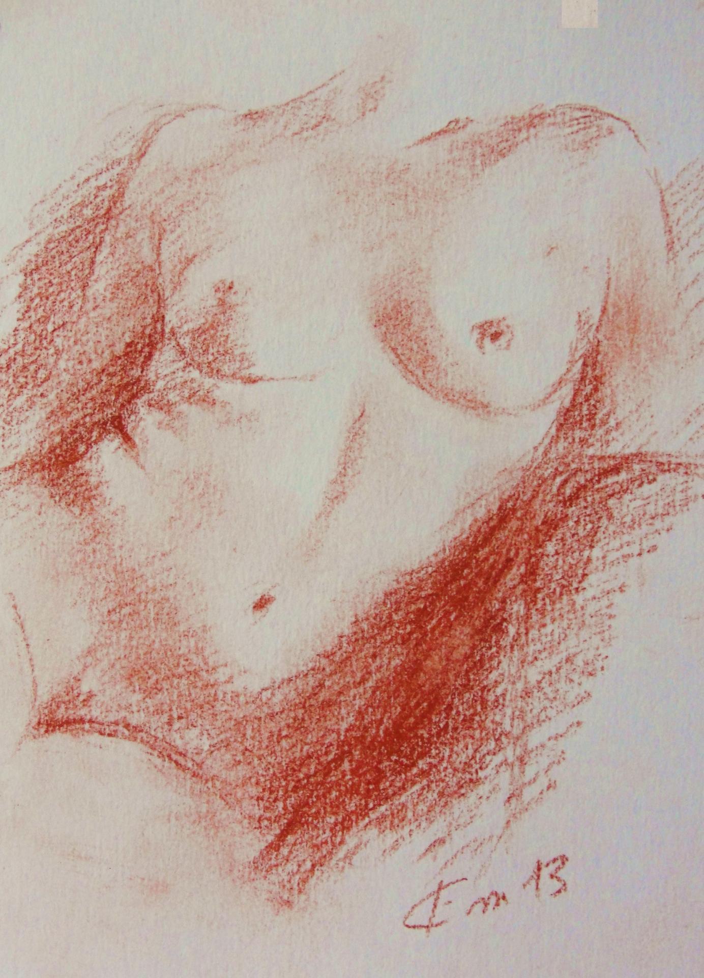 Nu artistique sanguine de jean joseph chevalier 4