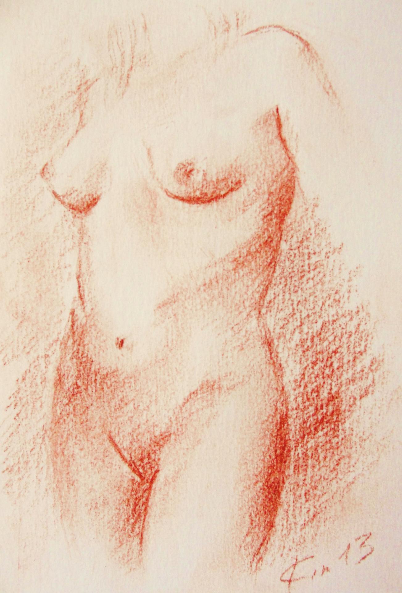 Nu artistique sanguine de jean joseph chevalier 6