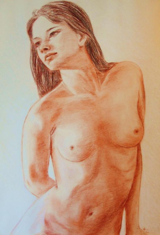 Nu feminin sanguine de jean joseph chevalier