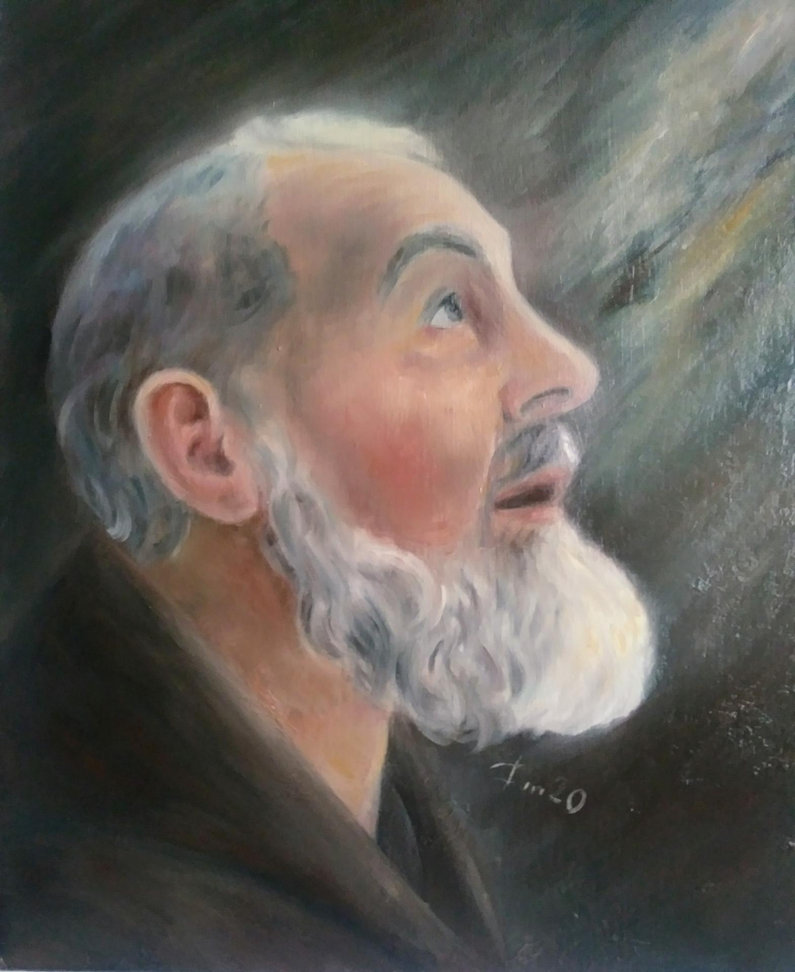 Padre pio tableau de jean joseph chevalier peinture d art sacre