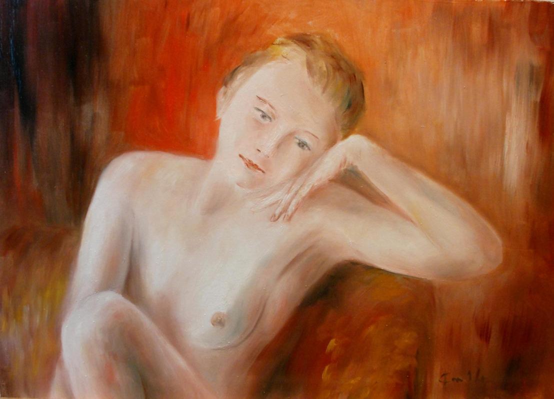 Peinture de nu par jean joseph chevalier 9