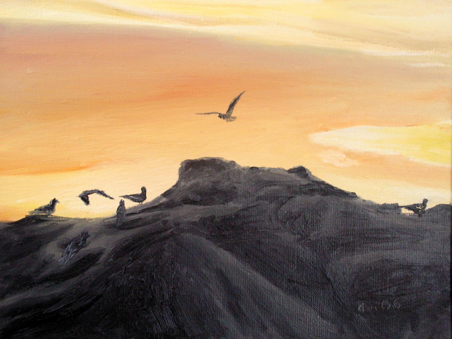 Peinture de paysage huile sur toile de jean joseph chevalier 2