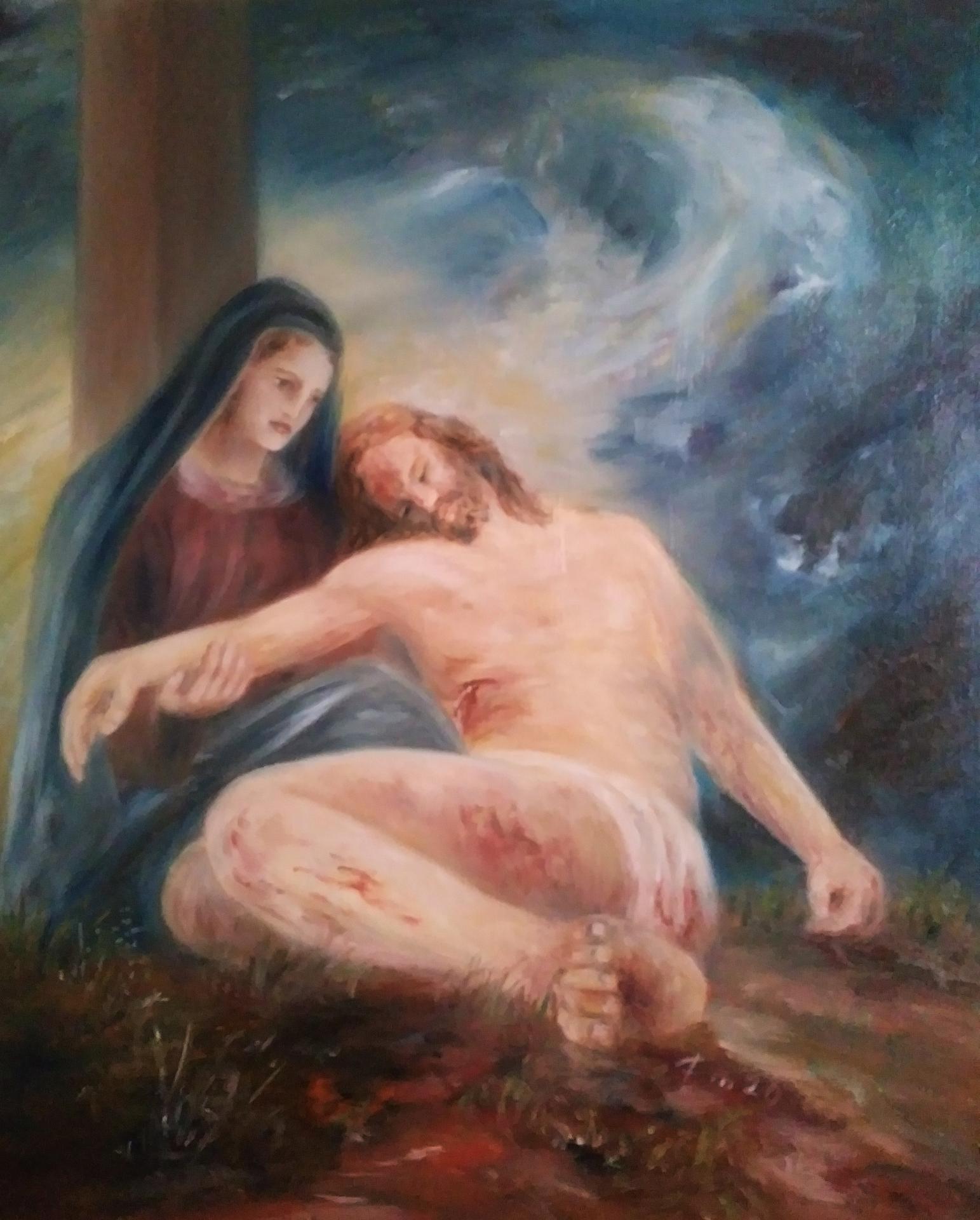 Pieta tableau d art sacre de jean joseph chevalier 1