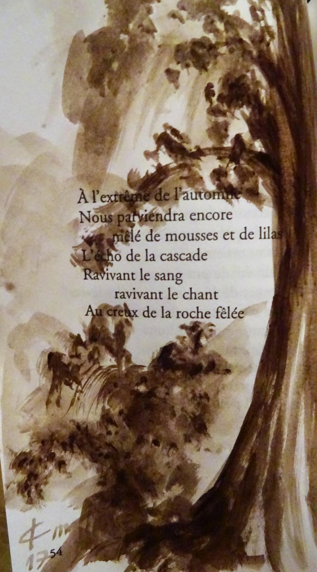 Poeme de francois cheng illustre dessin au lavis de jean joseph chevalier 165