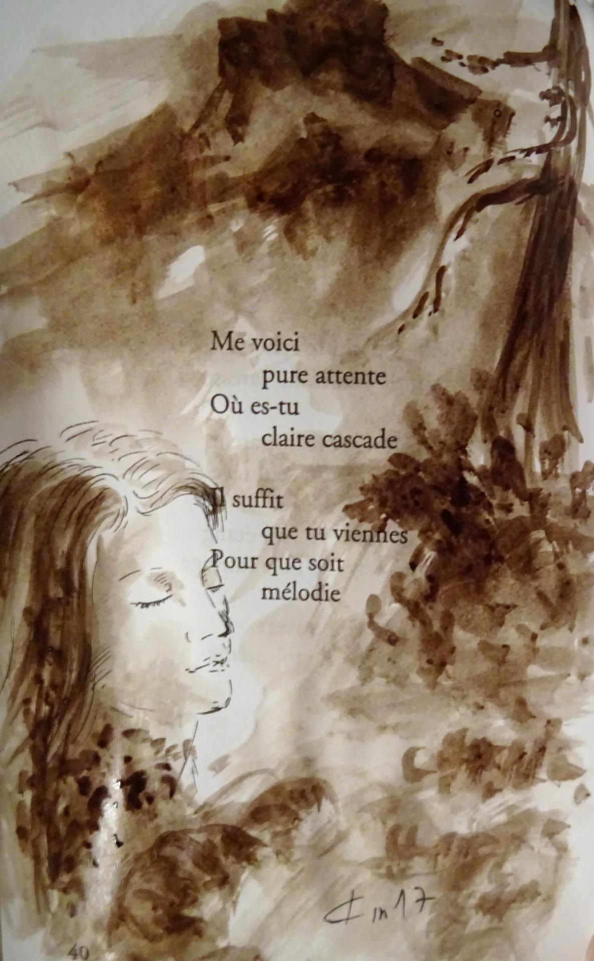 Poeme de francois cheng illustre dessin au lavis de jean joseph chevalier 166