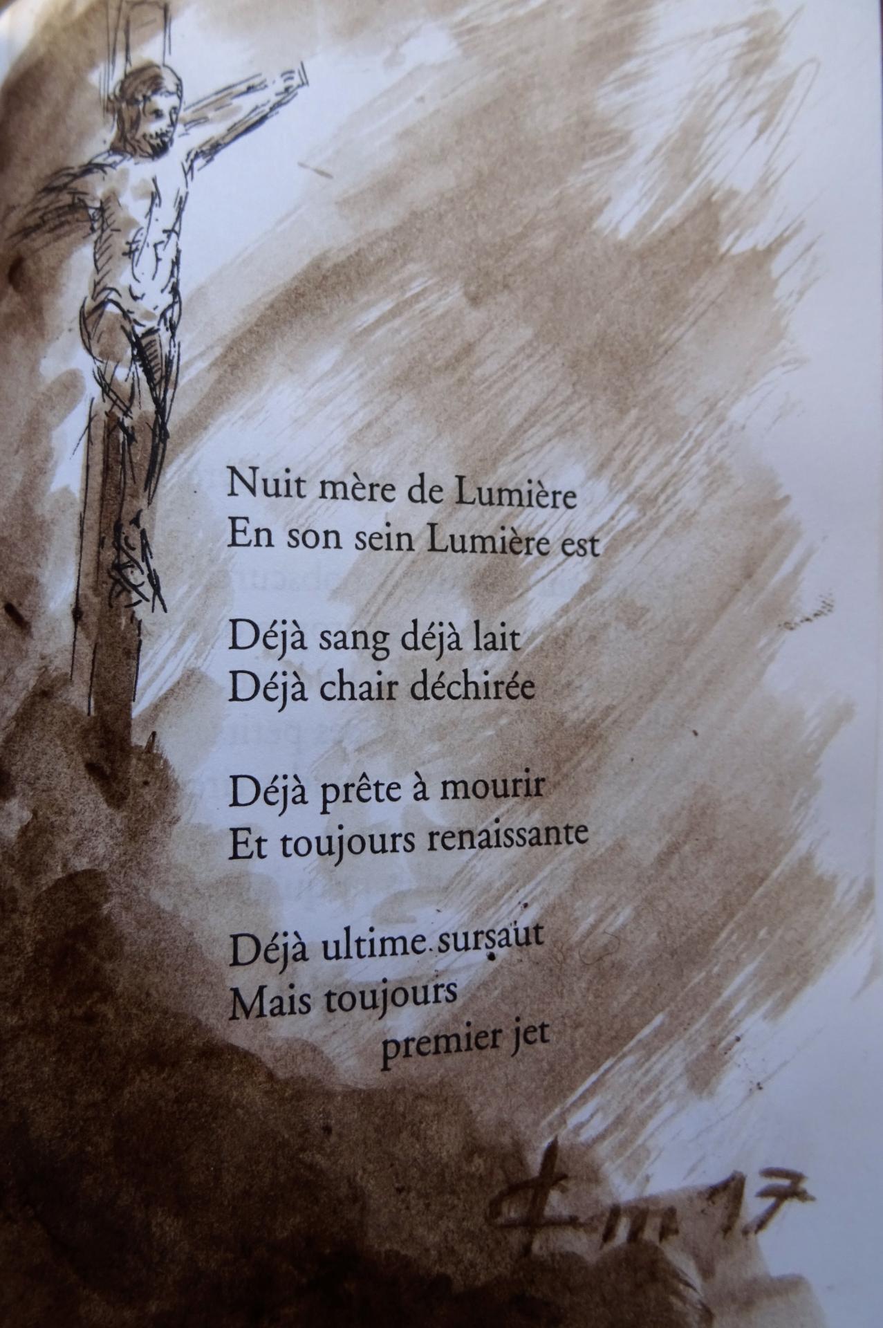 Poeme de francois cheng illustre dessin au lavis de jean joseph chevalier 168