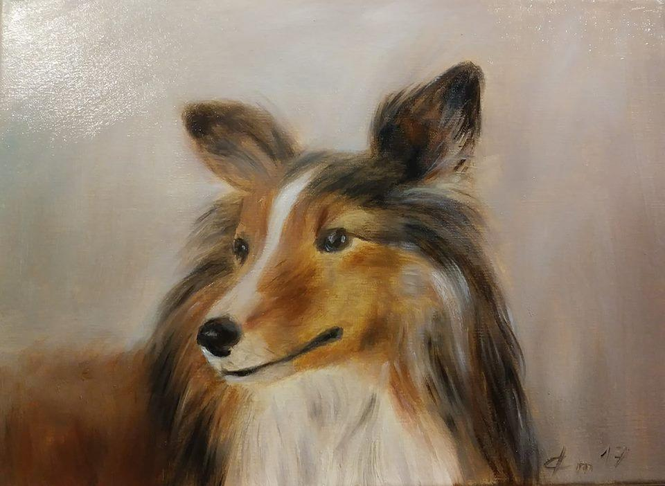 Portrait animal peinture de jean joseph chevalier