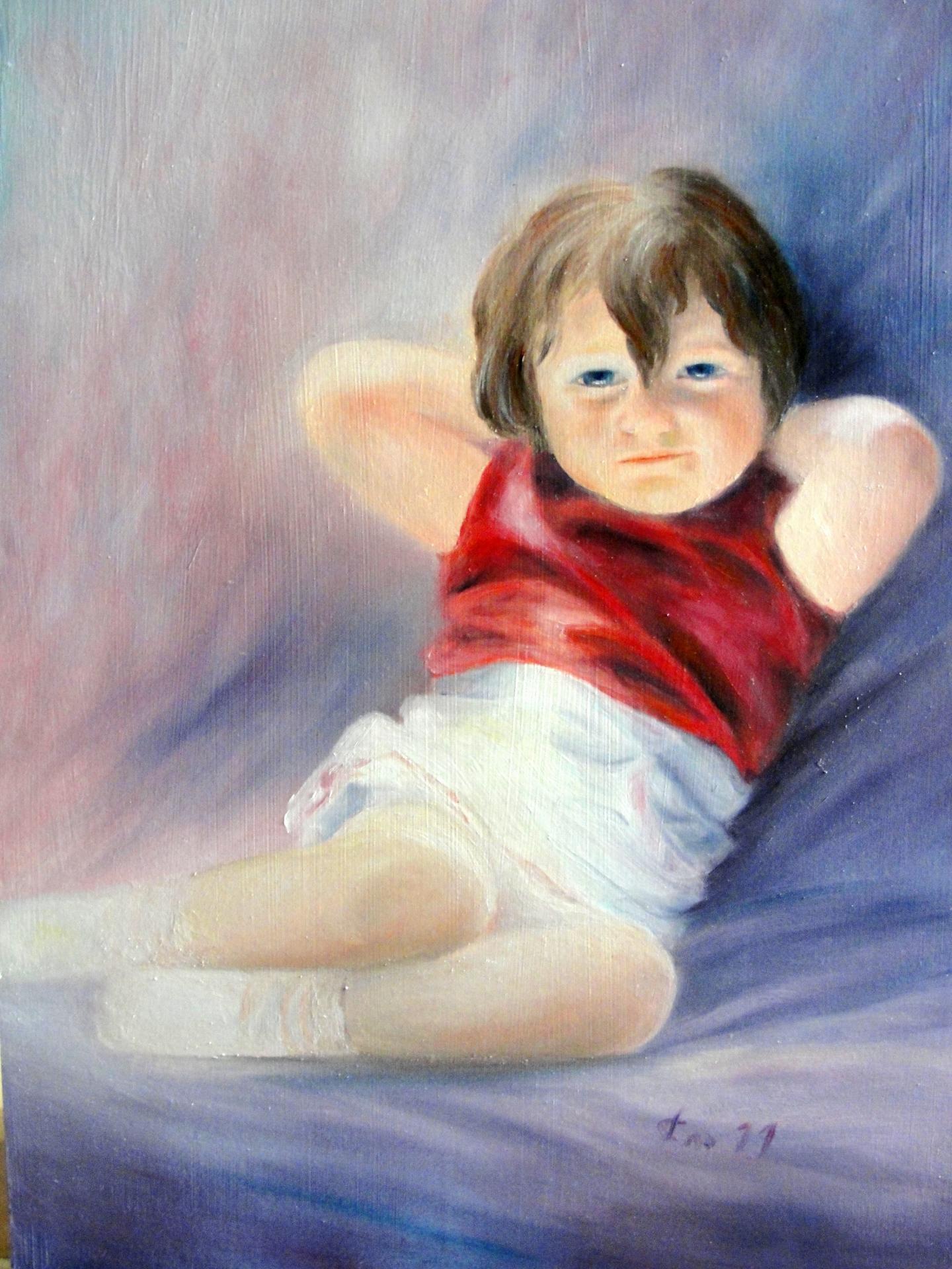 Portrait d enfant par jean joseph chevalier