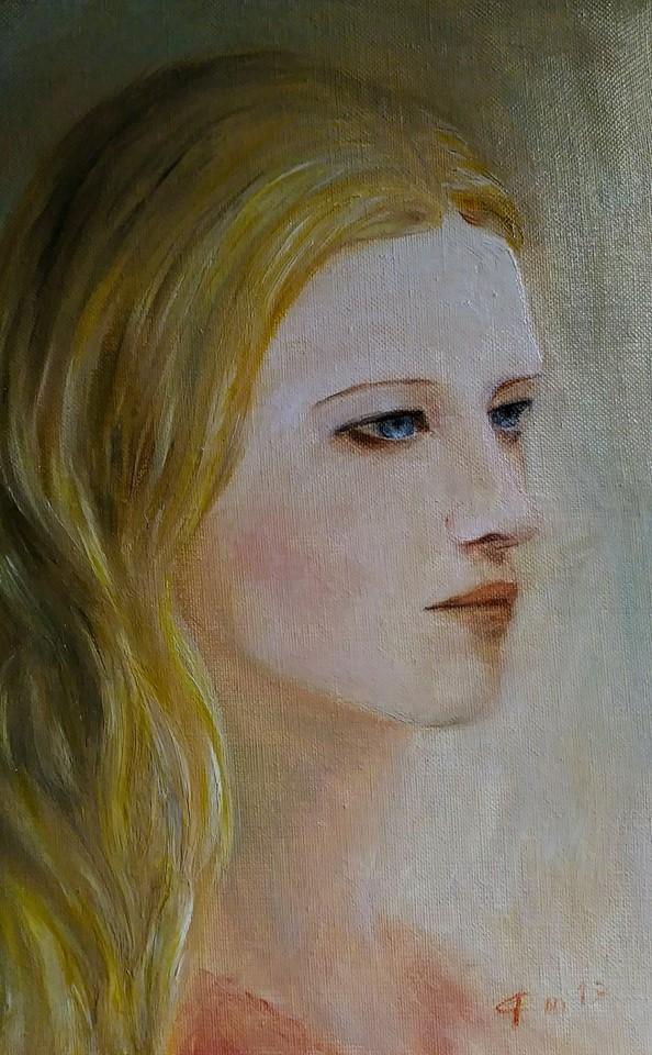 Portrait d une femme par jean joseph chevalier