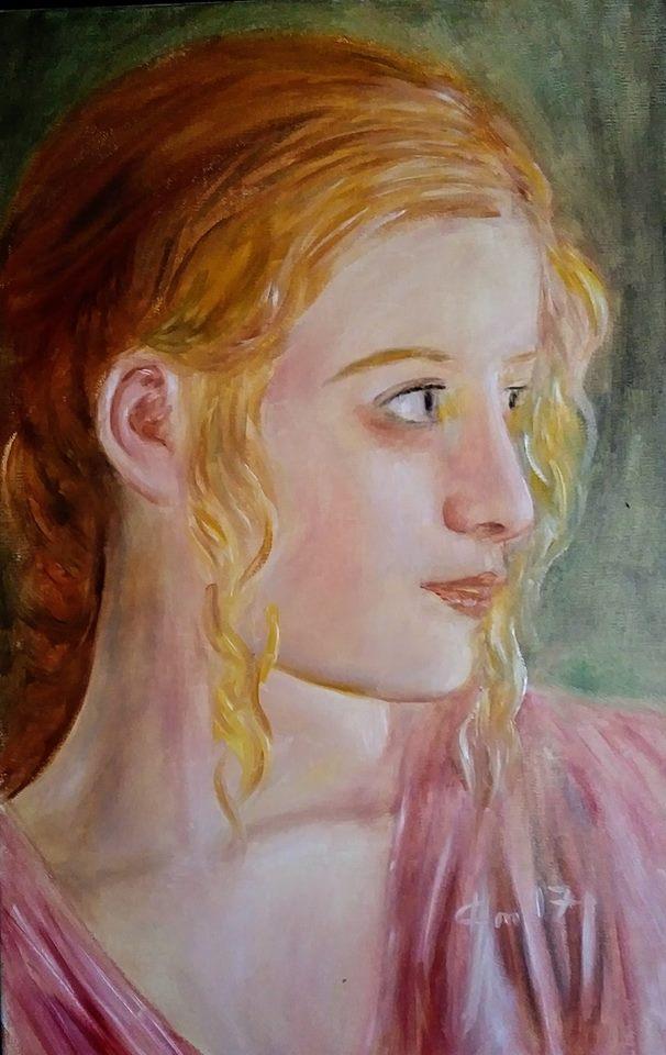 Portrait d une femme peinture de jean joseph chevalier