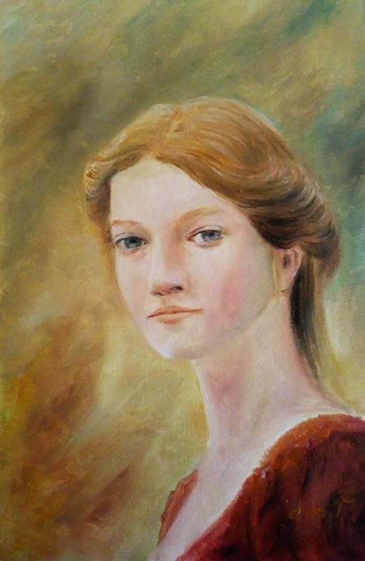 Portrait d une femme tableau de jean joseph chevalier 1
