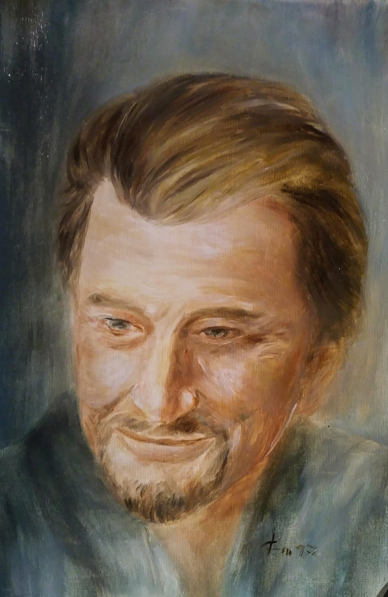 Portrait de johnny par jean joseph chevalier