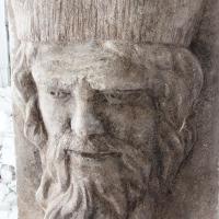 Poseidon mascaron en pierre 75cm par jean joseph chevalier 4