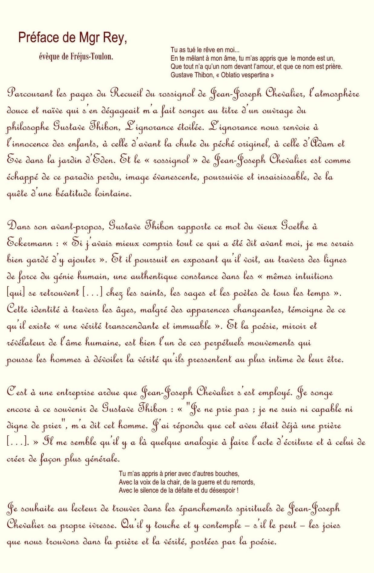 Recueil du rossignol poeme et sanguine de jean joseph chevalier 1