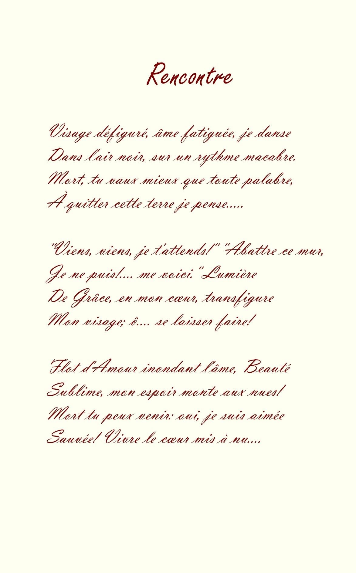 6 Rencontre Poème Et Dessin à La Sanguine De Jean Joseph