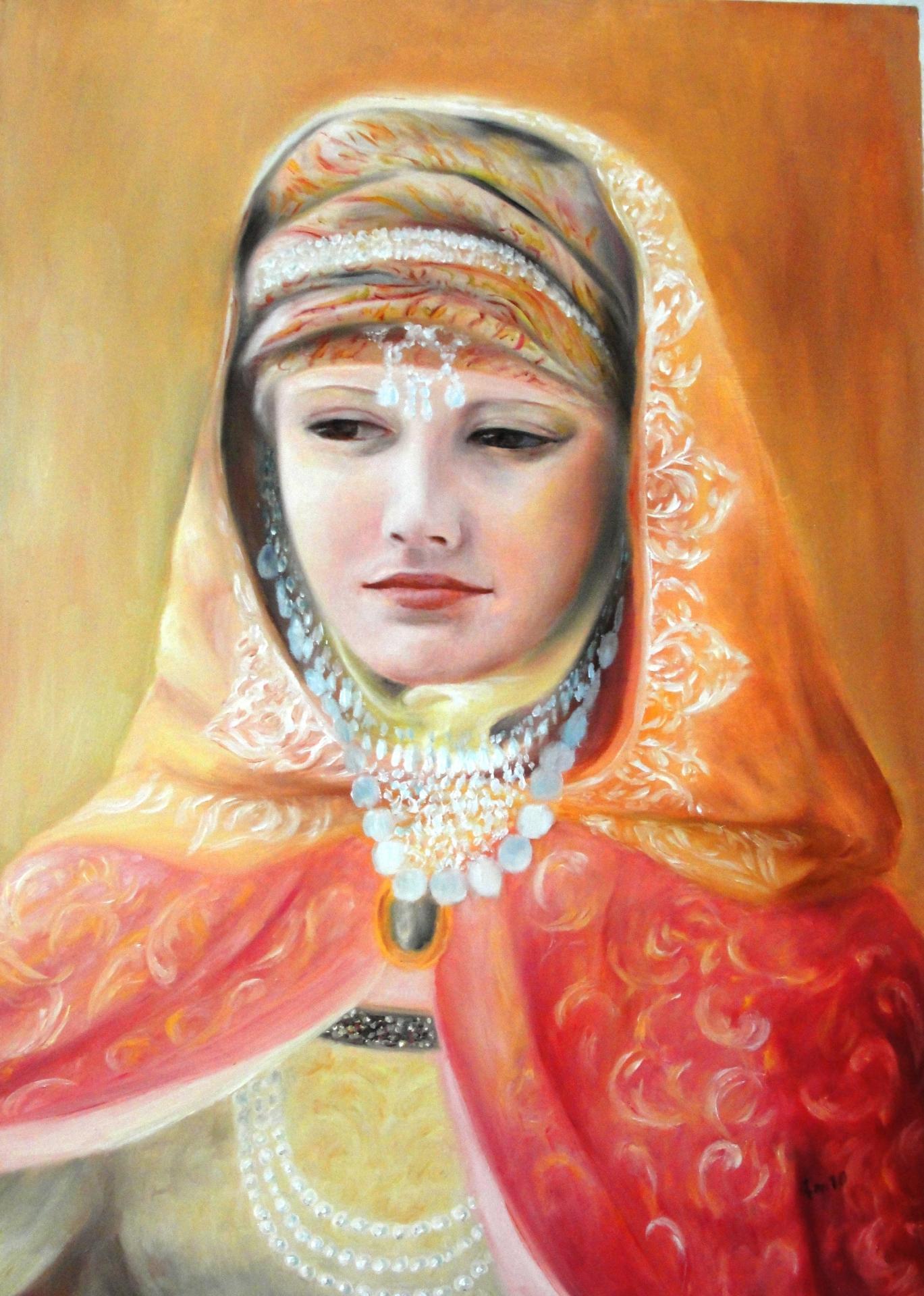 Reine de saba peinture d art sacre par jean joseph chevalier