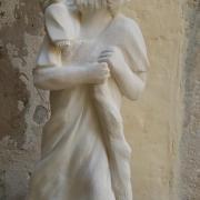 Sculpture sur pierre ronde bosse de jean joseph chevalier st christophe 17