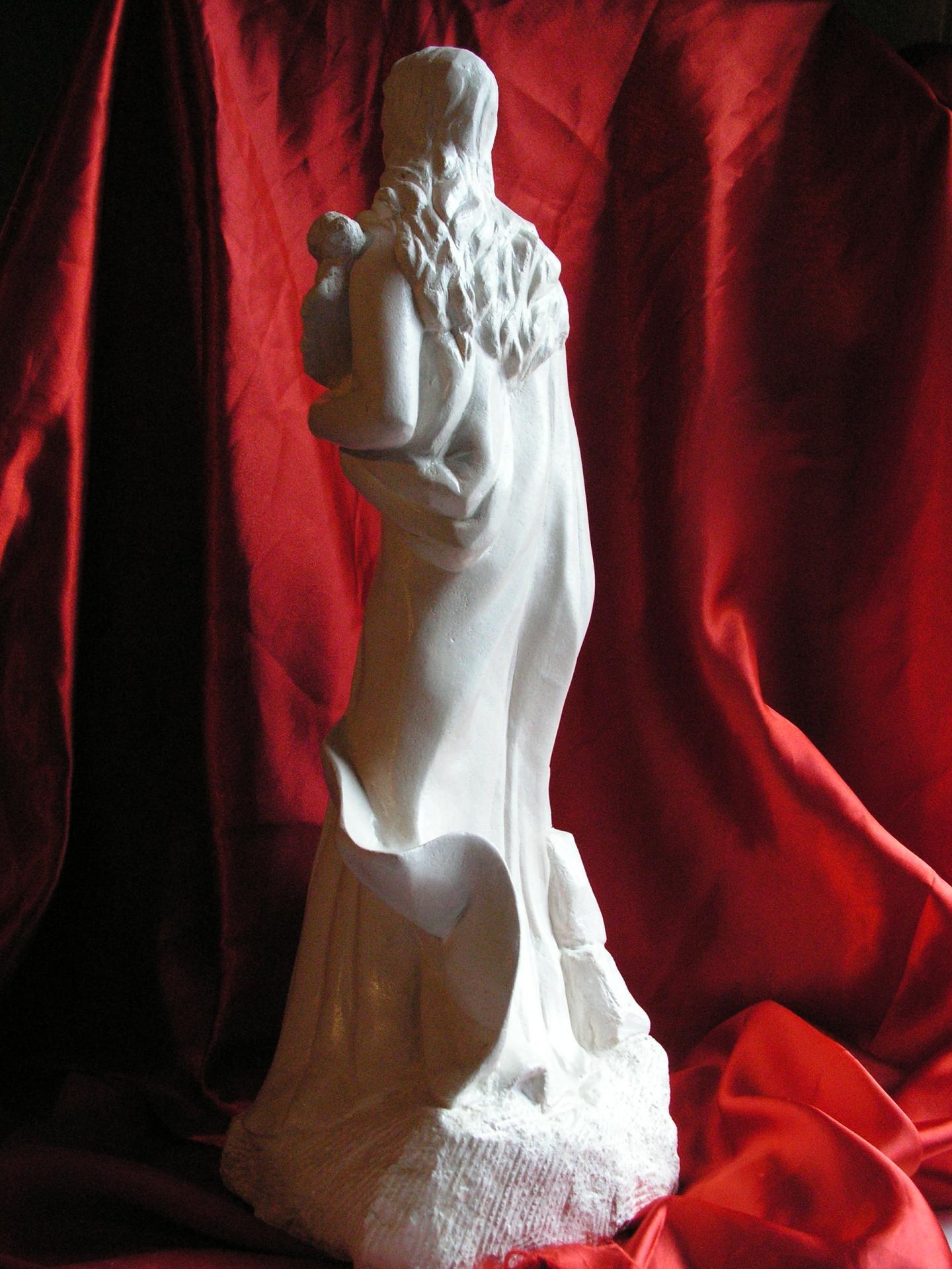 Sculpture sur pierre, ronde bosse de Ste Philomène, 4
