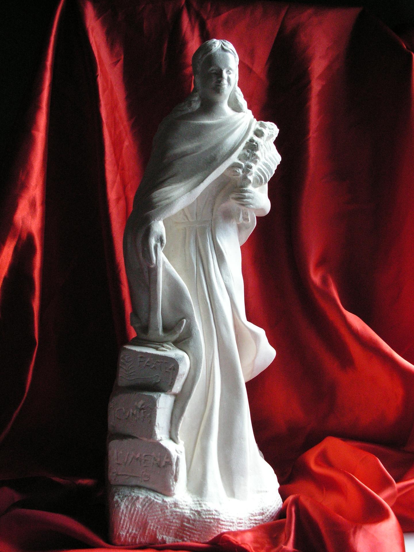 Sculpture sur pierre, ronde bosse de Ste Philomène, 1