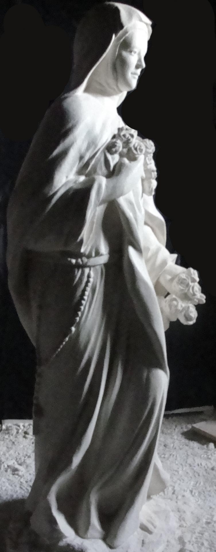 Sculpture sur pierre, statue de Ste Thérèse en ronde bosse, 6