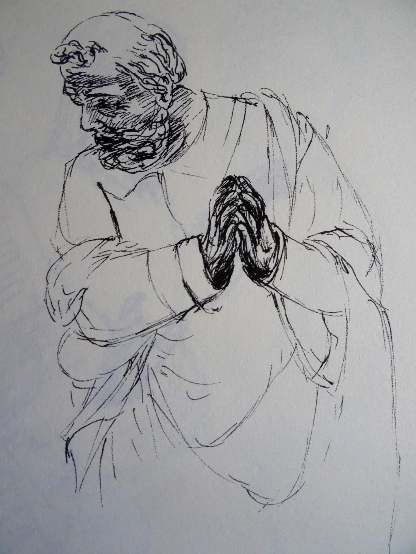 Solesmes dessin a la plume de jean joseph chevalier 53