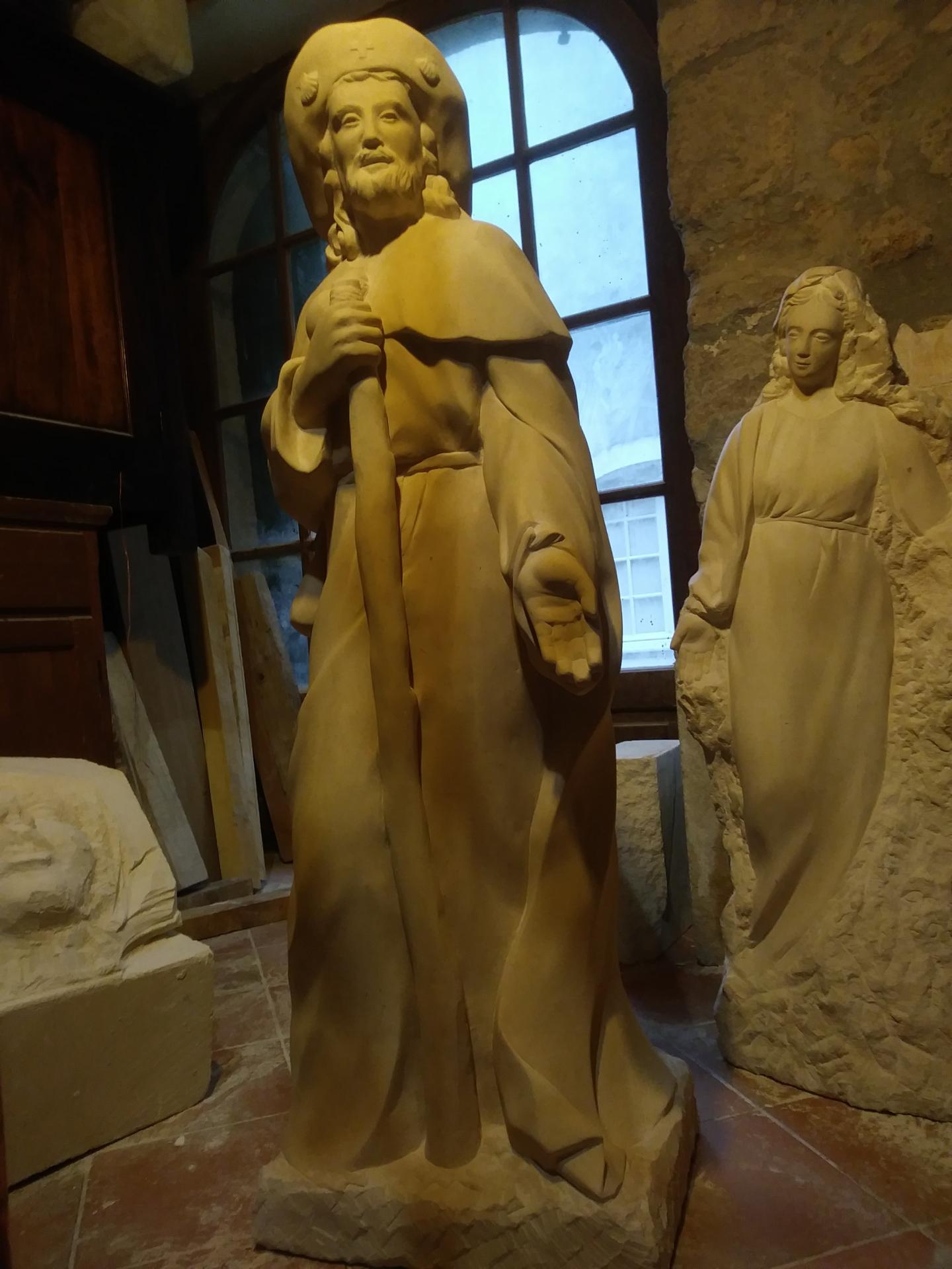St jacques sculpture sur pierre statue de jean joseph chevalier 82