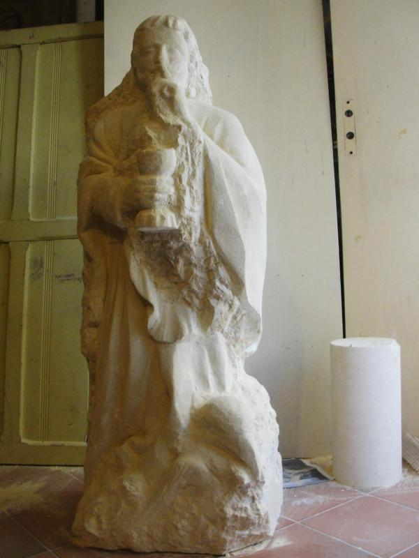 St jean sculpture en pierre 1 2m 46
