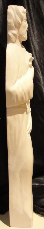 St joseph sculpture sur pierre demi relief 23