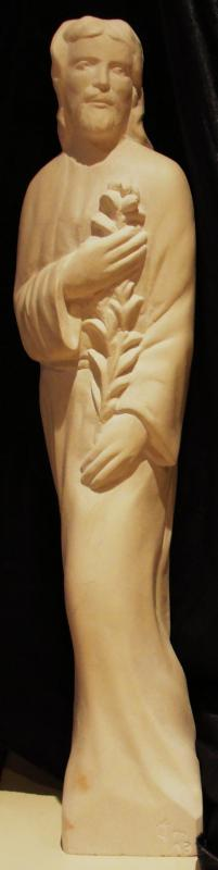 St joseph sculpture sur pierre demi relief 24
