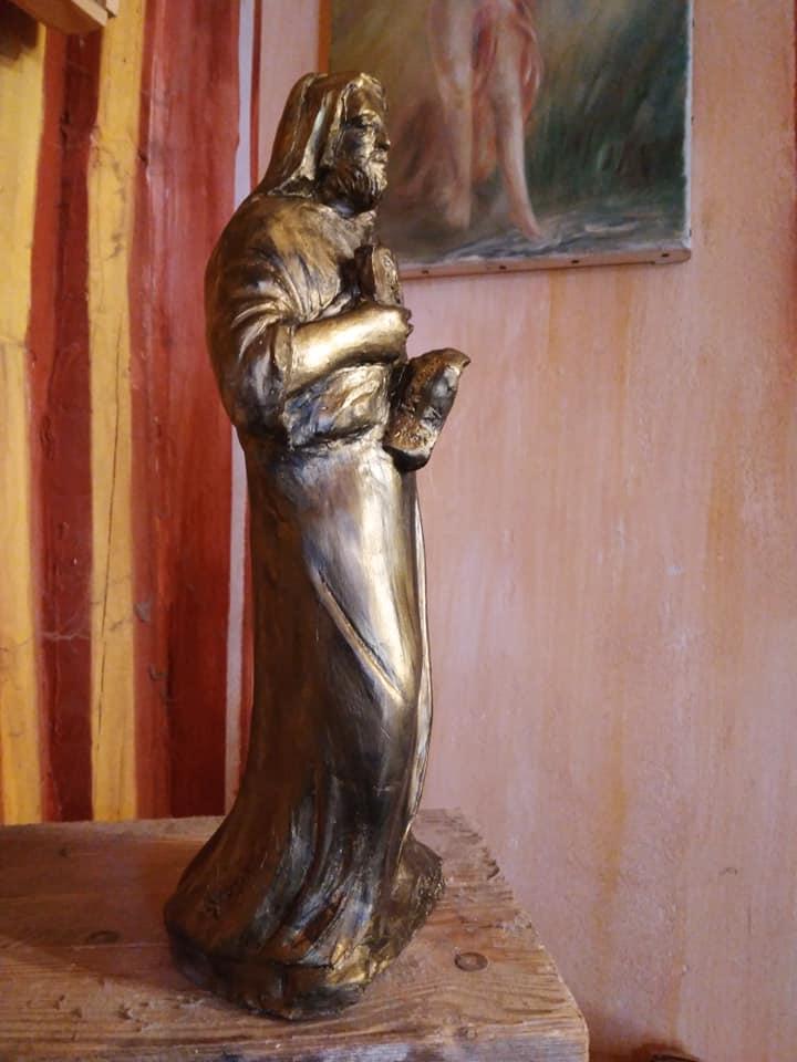 St luc sculpture en terre cuite de jean joseph chevalier 1