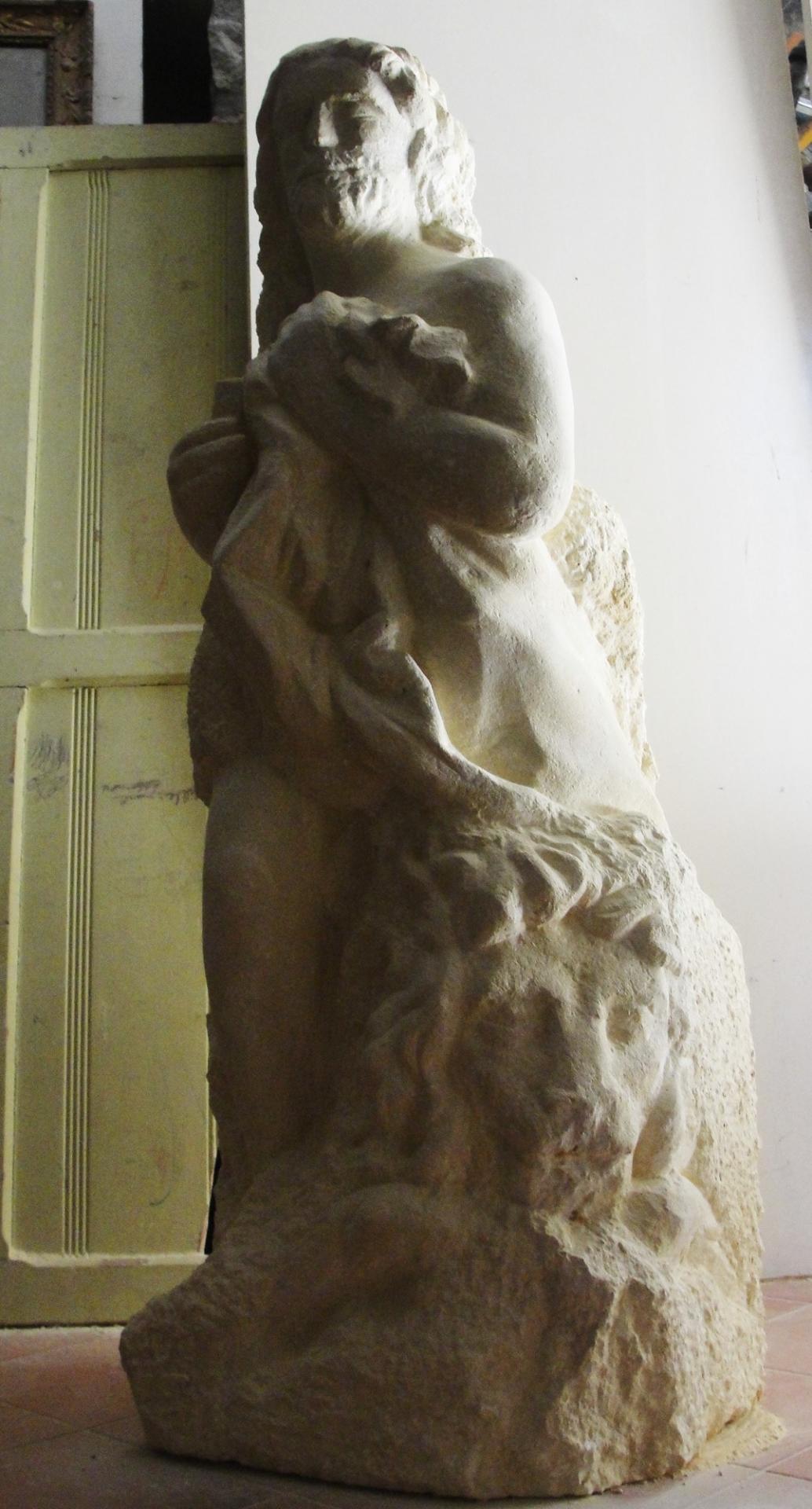 St marc sculpture en pierre 1 2m 89