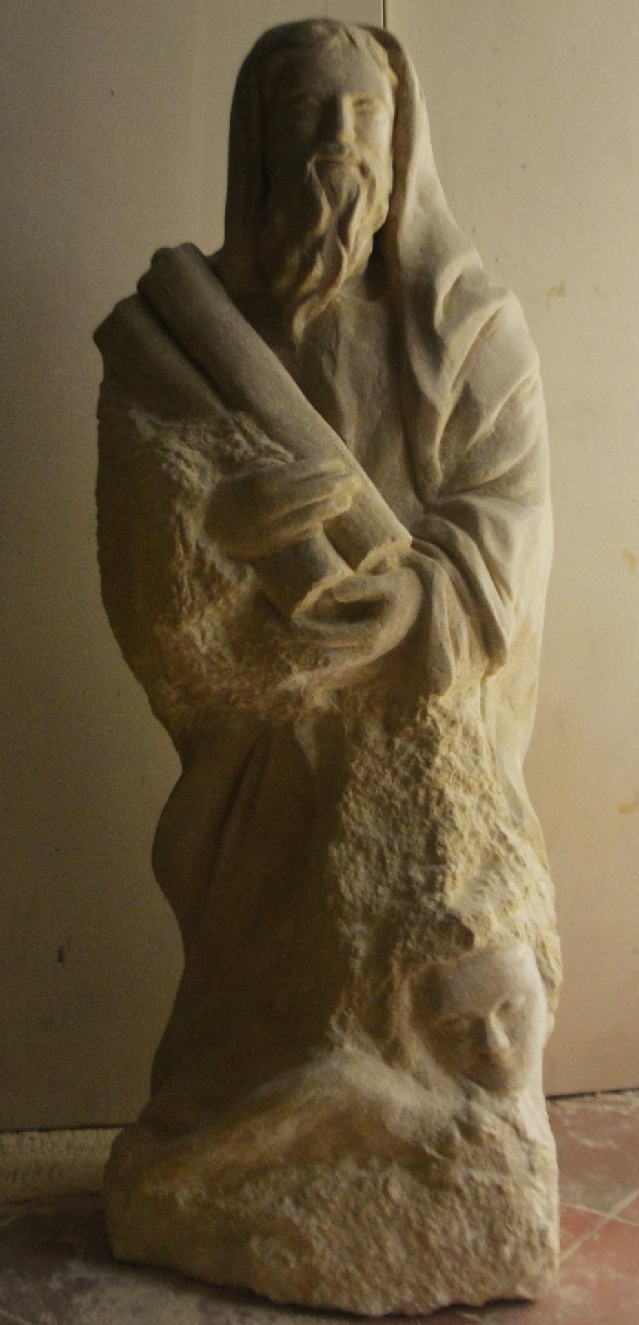 St matthieu sculpture en pierre 1 2m 47