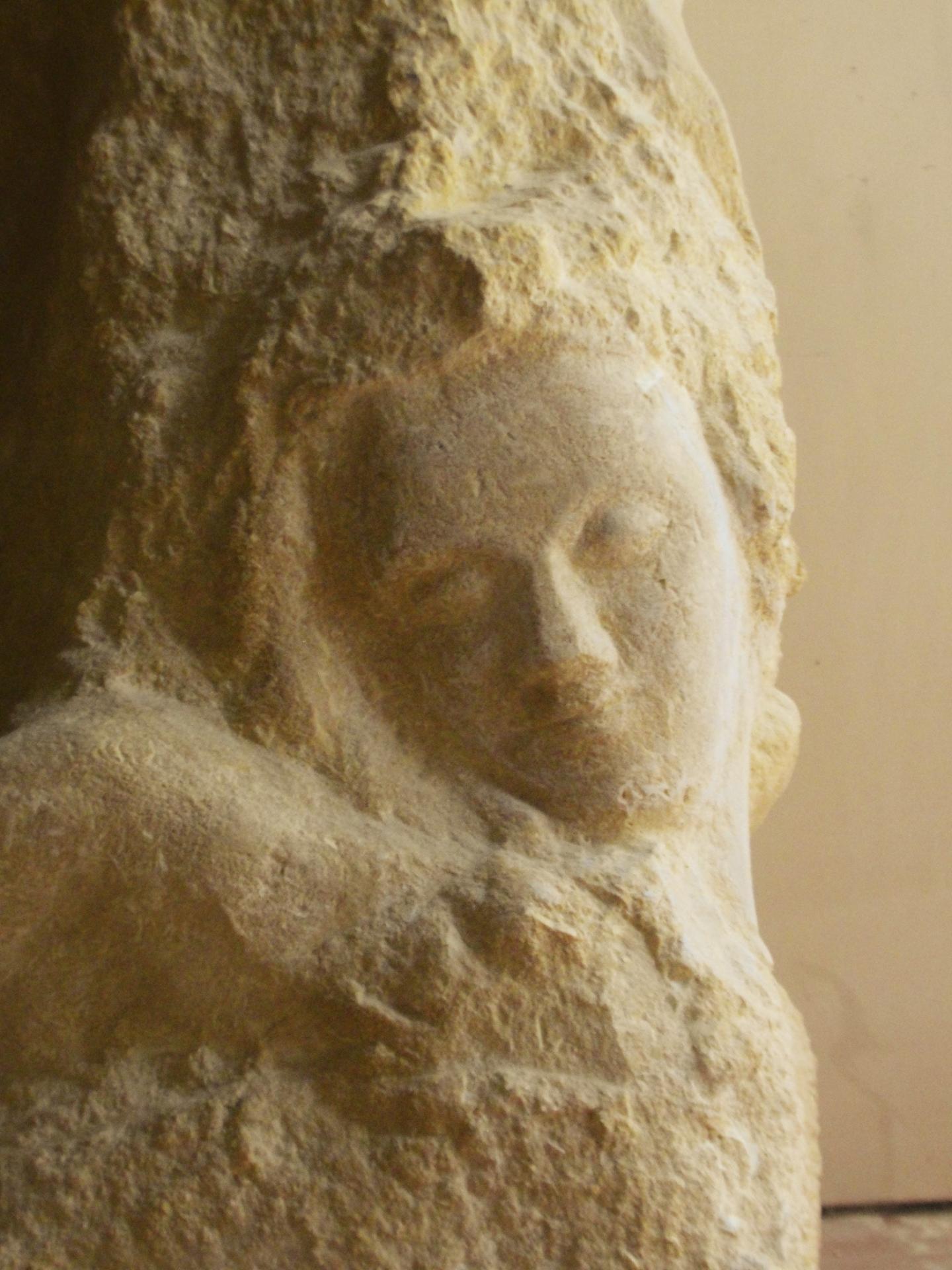 St matthieu sculpture en pierre 1 2m 49