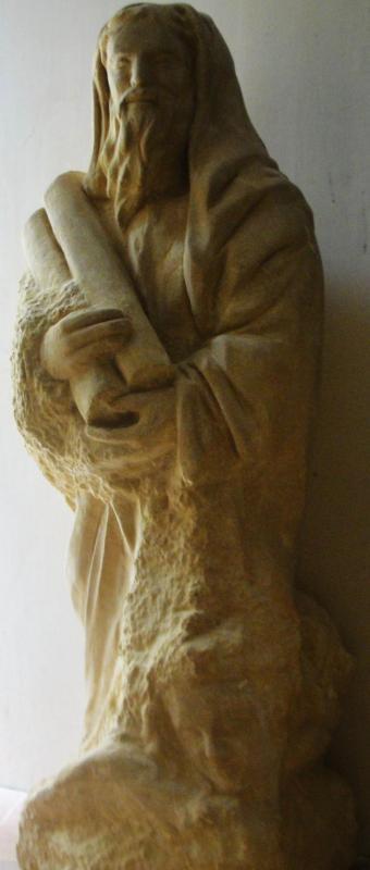 St matthieu sculpture en pierre 1 2m 52