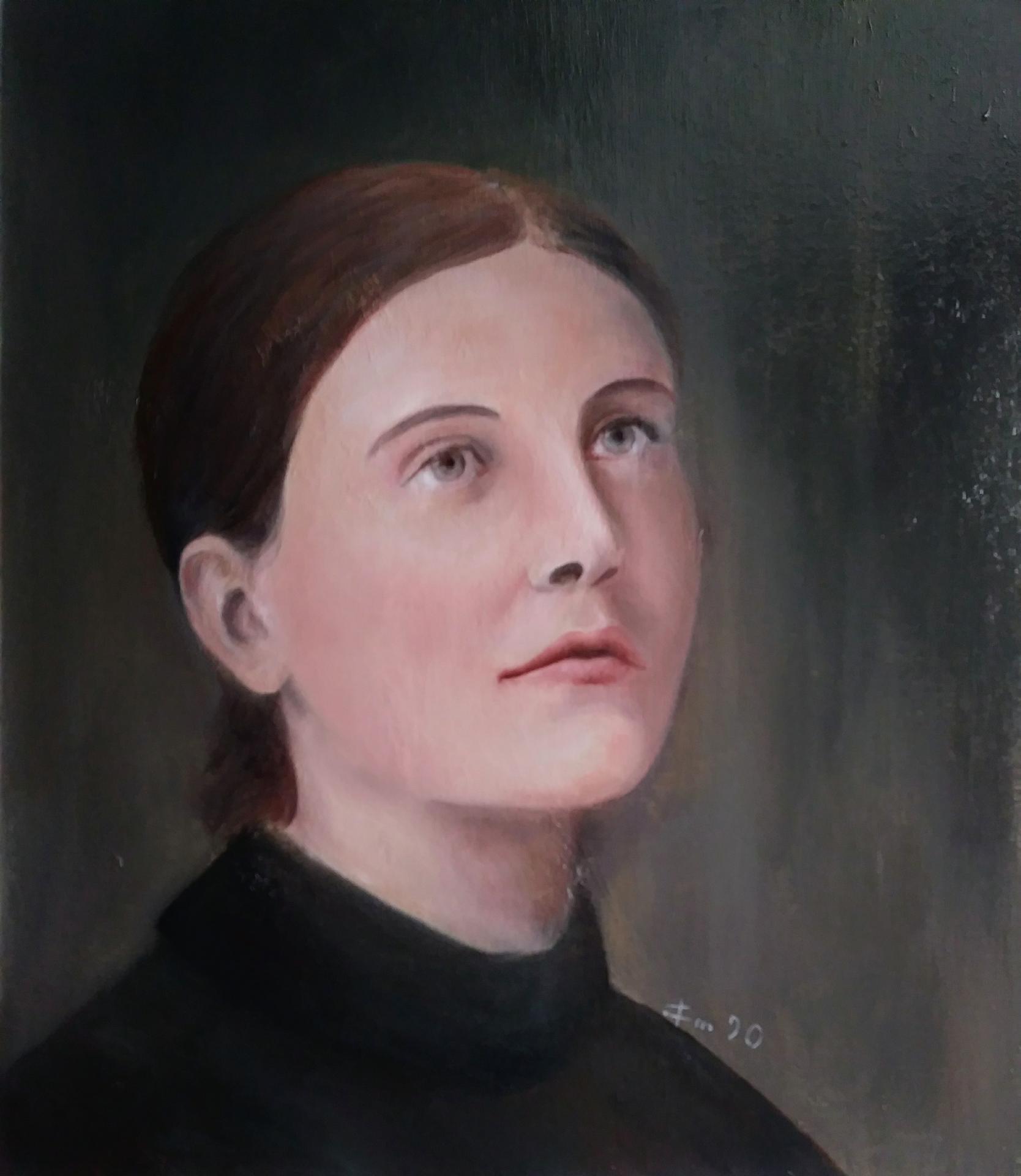 Ste gemma galganie portrait tableau de jean joseph chevalier peinture d art sacre 1