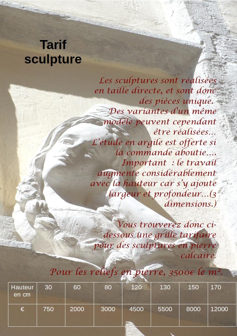Tarif 2018 des sculptures de jean joseph chevalier 2 2