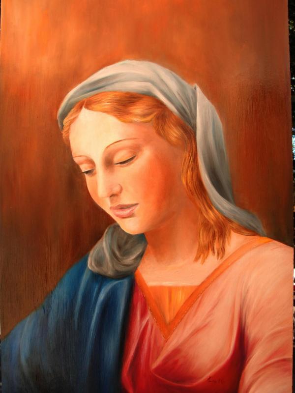 Vierge peinture d art sacre de jean joseph chevalier